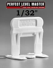 "1/32"" PERFECT LEVEL MASTER Professional tile leveling system wall floor spacers"