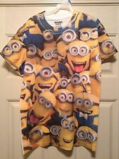 DESPICABLE ME 2 Mens White Minion Covered Tee T Shirt Size Medium Brand New