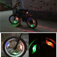 Bike Bicycle Motorcycle Wheel S Spoke Wire Tyre LED Flash Light Lamp Reflector