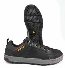CAT (CATERPILLAR) BRODE BLACK LEATHER STEEL TOE SKATER WORK & SAFETY BOOT MEDIUM