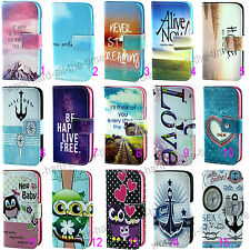 New Cartoon PU Leather Flip Wallet Stand Case Cover For iPhone & Samsung Phones