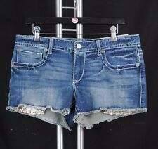 NWT MAURICES Woman Kaylee Shorts Distressed Denim Sequin Cropped Jeans