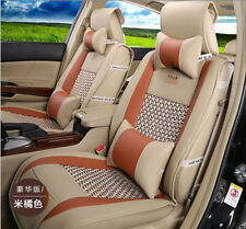 10PCS Fashion PU Leather Universal Car Seat Cover Cushion For All Car Vehicle