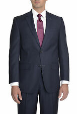 IZOD Classic Fit Blue Pinstriped Two Button Suit With Pleated Pants