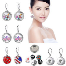 Multi style Floating Crystal Chunky Snap charm jewerly Button Pendant Necklaces