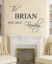 Personalized Name Customer Family EST Year Kids Letter wall decal quote sticker
