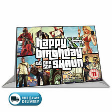 Personalised Birthday Card Inspired By Video Games:Grand Theft Auto GTA BIG A5