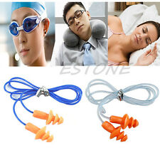 Lot Soft Silicone Ear Plug Hearing Protector Hearing For Swimming Sleeping 24dB