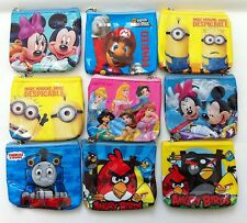 girls boys square zip purse wallet Christmas party gift loot bag filler