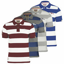 Mens Polo T Shirt Tokyo Laundry Sycamore Striped Cotton Short Sleeved Casual Top