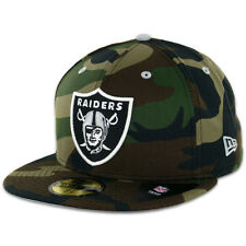 New Era Camo Pop Redux Oakland Raiders 59Fifty Fitted Hat (Woodland Camouflage)