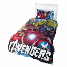 Marvel Avengers Hulk Captain America Iron Man Single Double Bed Quilt Cover Set