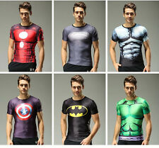 Sport Outdoor Cycling Jersey Cosplay Tops The Avengers Marvel Superhero T-shirt