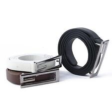 Men's G Shape Alloy Buckle Faux Leather Slim Thin Waist Belt Strap Waistband Hot