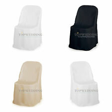 White Polyester Chair Covers Banquet Catering Universal Wedding Party Decoration