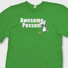 AWESOME POSSUM Funny Geek Quote T-shirt Humorous Tee Shirt