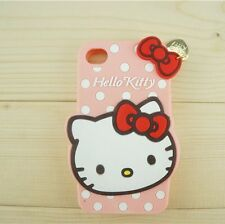 3D Cute Hello Kitty Silicone Soft Case Cover for iPhone / Samsung / LG / HTC