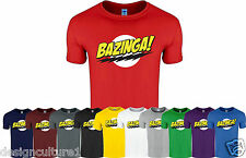 BAZINGA New Funny Geek Nerd Sheldon Cooper Big Bang Theory T-Shirt Tee Top