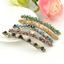 Women Fashion Exquisite Crystal Rhinestone Barrette Hair Clip Hair Accessory