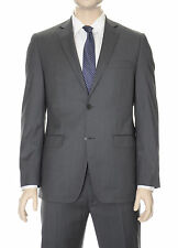 DKNY Trim Fit Charcoal Gray With Blue Pinstriped Two Button Wool Suit