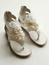 Deux Par Deux White Sandal Toddler Girls