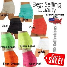 Lace Short Women Korean Sweet Crochet Tiered Lace Skorts Shorts Short Pants