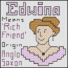 Cross Stitch Kit - Name Origin and the Meaning - Letter E Female