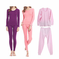 Women's Sexy Winter Warm Cotton Thermal Underwear Top+Pant Long Johns Set Pajama