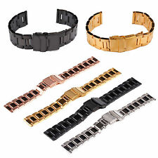 New 18 20 22 mm Flip Stainless Steel Metal Belt Watch Band Strap Watchband