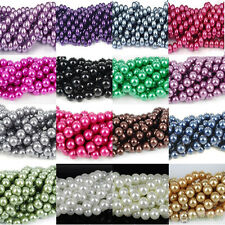 Hot 100pcs Cute Czech Glass Pearl Round Loose Bead 4mm 6mm 8mm 10mm 12mm Jewelry