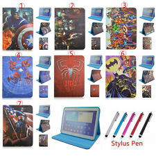 Super Heroes Filp Stand Leather Covers Case  For Samsung Galaxy Tab 4 10.1 T530