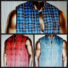 CHAPS Mens Sleeveless Green/Red/Blue Western Style Jacket Vests Sz M L XL 2XL