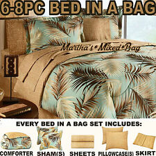 TROPICAL PALM TREE LEAF/LEAVES NAUTICAL OCEAN BEACH Coasta Bedding Comforter Set