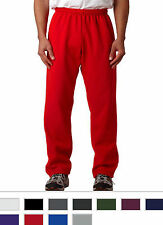 Gildan Mens Sports Pants Heavy Blend Open Bottom Sweatpants S - 5XL NEW - 18400