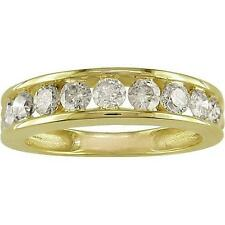 14Kt Yellow Gold VS1/F Real 1.20Ct Diamond 4.30MM Engagement Wedding Ring Band