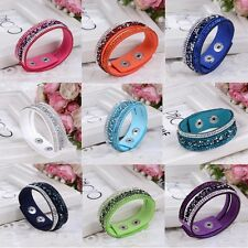 Moda Wristband Bracciale Donna vita dell'involucro strass Crystal Bangle