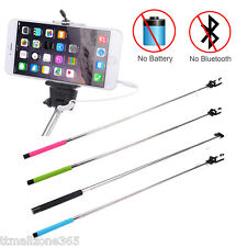 Wired Remote Handheld Selfie Stick Monopod Extendable Pole Holder For Cellphone