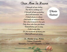 Memorial Personalized Poem Gift For Loss Of Mother Father Husband Wife