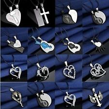 HOT Fashion Silver Unisex's Men Stainless Steel Cross Pendant Necklace Chain