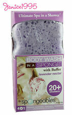 SPONGEABLES Body Wash In A Sponge 20+ Washes LAVENDER NECTAR