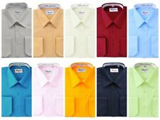 French Convertible Shirts for Men. Dress shirt by Berlioni Italy S-5X