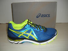 ASICS MENS GT-2000 3 RUNNING SHOES- SNEAKERS -T500N- 4207- BLUE / FLASH YELLOW