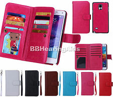 Flip PU Leather Wallet Case Cover Handbags For Apple OR Samsung Various Phone