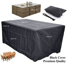 WATERPROOF GARDEN PATIO FURNITURE COVER RECTANGLE SQUARE ROUND TABLE COVER (NEW)