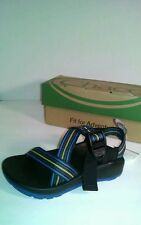 Chaco Z1 ECOTREAD NAVY MULTI COLORED SANDALS HOT ITEM!!