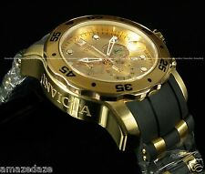 Invicta Men Swiss 5030.D Chronograph 18k Gold Plated Stainless Steel Scuba Watch