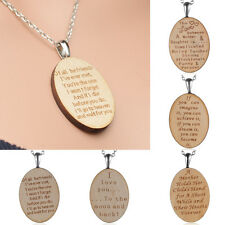 New wood necklace Love Friend Mother Daughter Necklace Pendant Chain Jewelry Hot