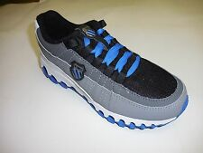 K Swiss Boy's Tubes Backatcha Black Grey Blue Walking Sneakers Size: 1.5 EU 33