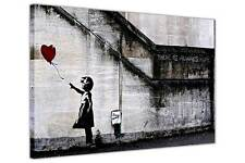 THERE IS ALWAYS HOPE BALLOON GIRL BANKSY PRINTS CANVAS WALL PICTURES DECOR ART