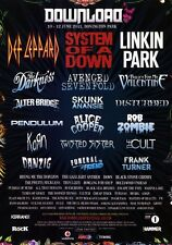 DOWNLOAD FESTIVAL 2011 Linkin Park Def Leppard PHOTO Print POSTER System Of A 08